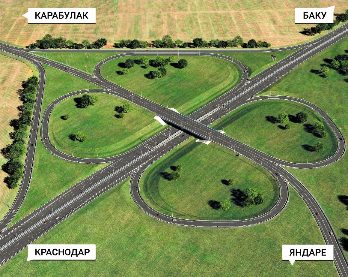 В Ингушетии до конца года откроют три транспортных развязки на Р-217