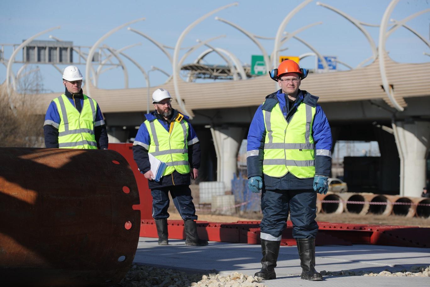 В Петербурге началось строительство Широтной магистрали скоростного движения