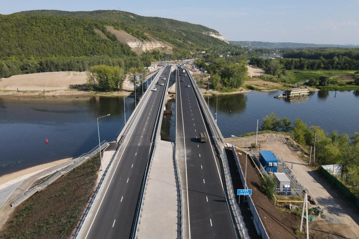 В Самарской области завершили строительство моста через реку Сок