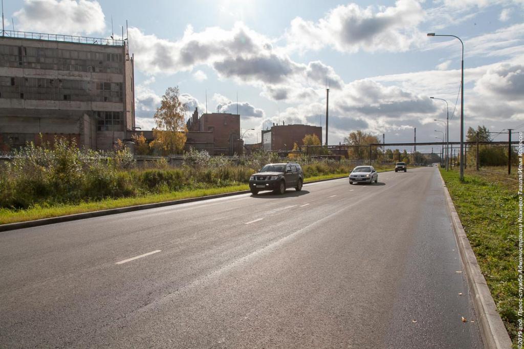 В Нижнем Тагиле отремонтировали пять самых крупных участков дорог по национальному проекту