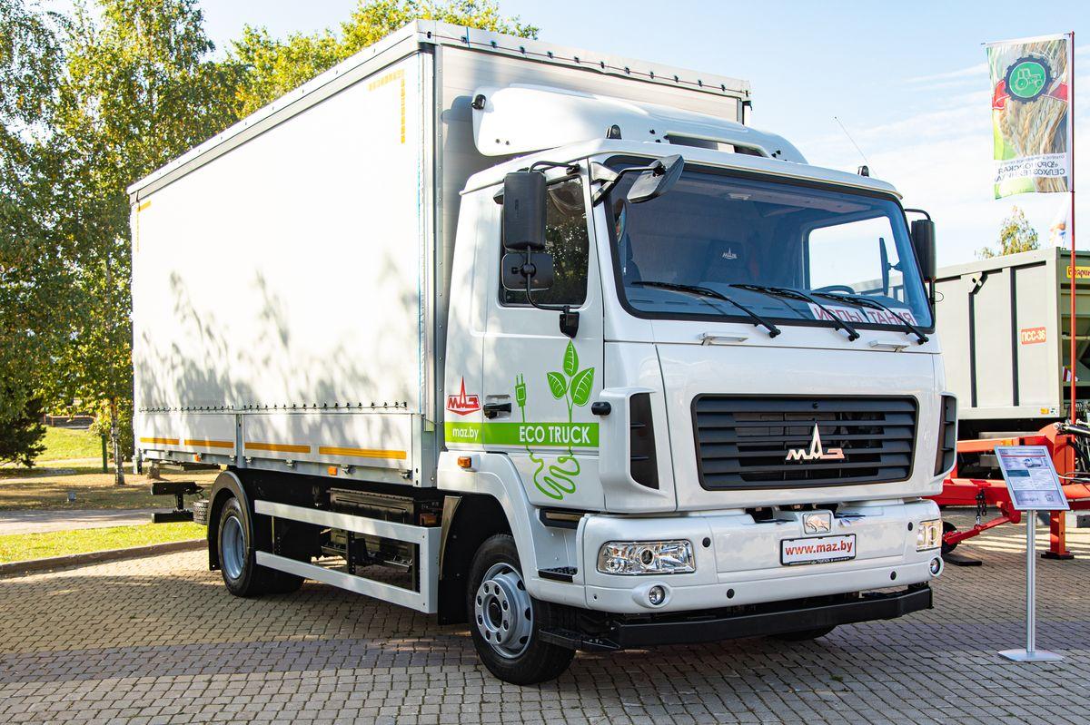 МАЗ представил свой первый электрический грузовик