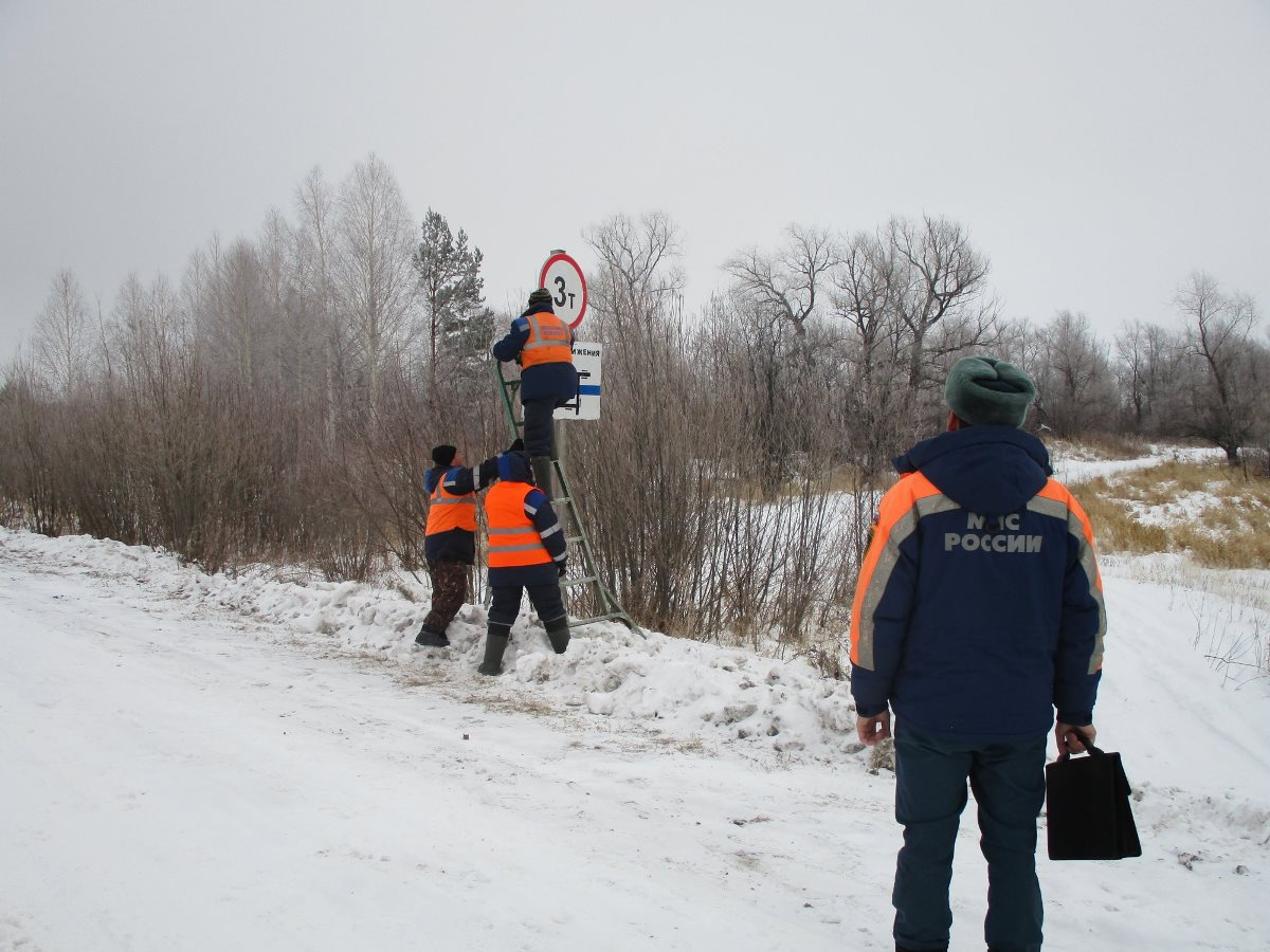 В Омской области открыли четвертую ледовую переправу