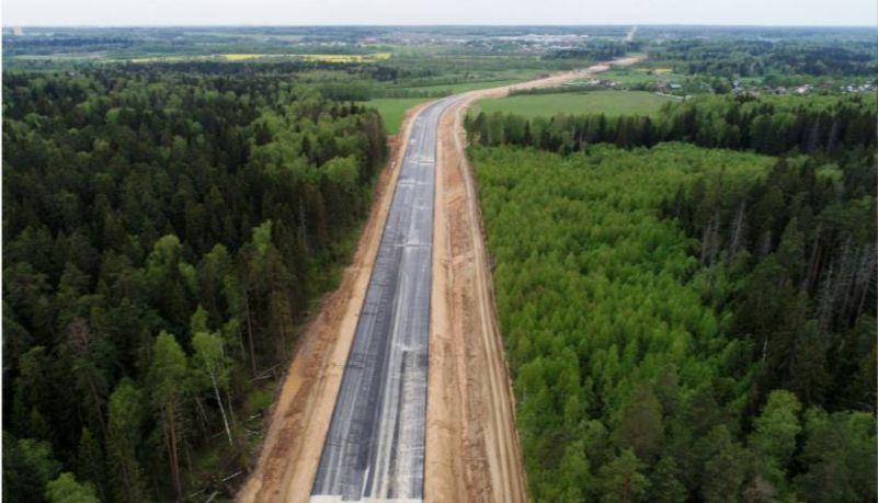 На ЦКАД между трассами М-10 «Россия» и М-11 «Нева» идет подготовка к укладке асфальта