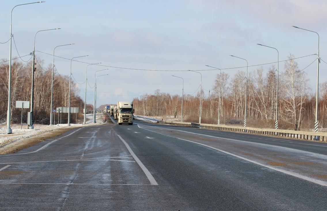 На трассе Р-254 «Иртыш» установили более 30 км линий освещения