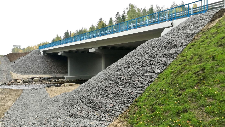 На федеральных трассах Карелии отремонтировали шесть мостов