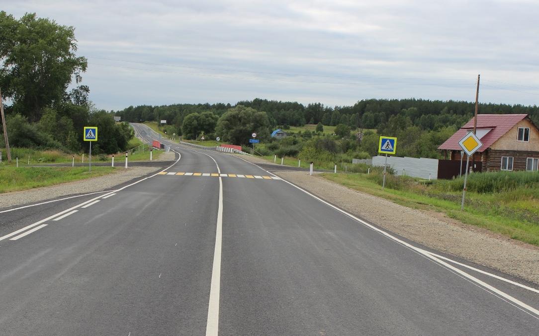 Федеральная трасса Р-354 в Курганской области