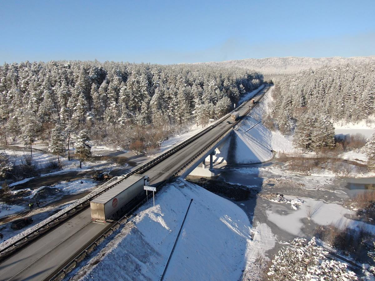 На трассе М-5 «Урал» в Челябинской области открыли мост через Сильгу