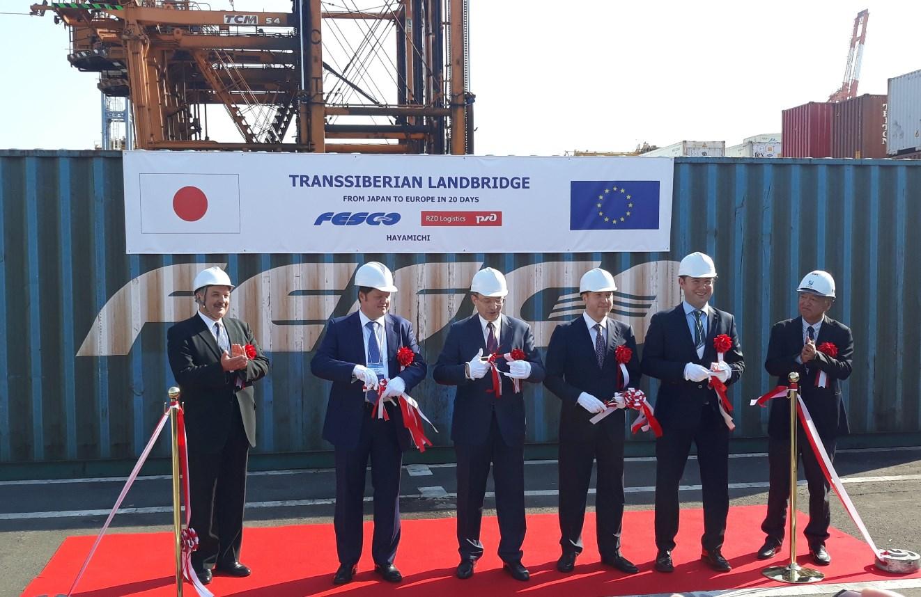 Состоялась первая транзитная отправка из Европы в Японию через Россию