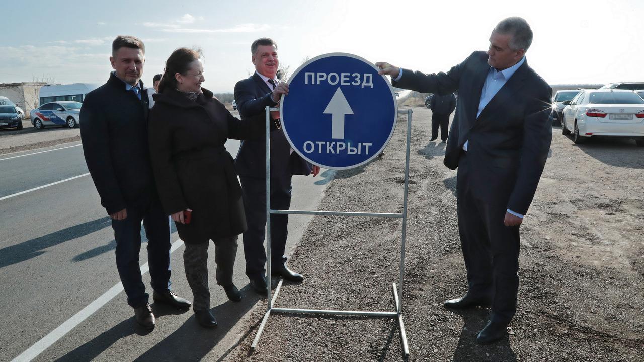 В Крыму после капитального ремонта открыли дороги «Саки-Орловка»