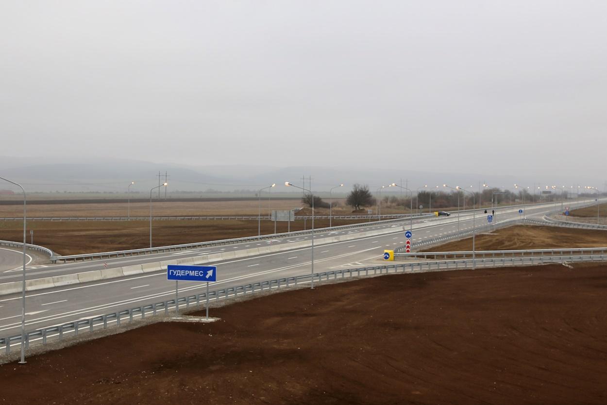 В Чечне завершили второй этап строительства обхода Гудермеса