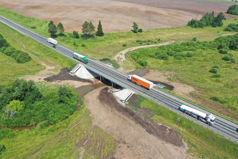 В Удмуртии после ремонта открыли мост через Сибинку на М-7 «Волга»