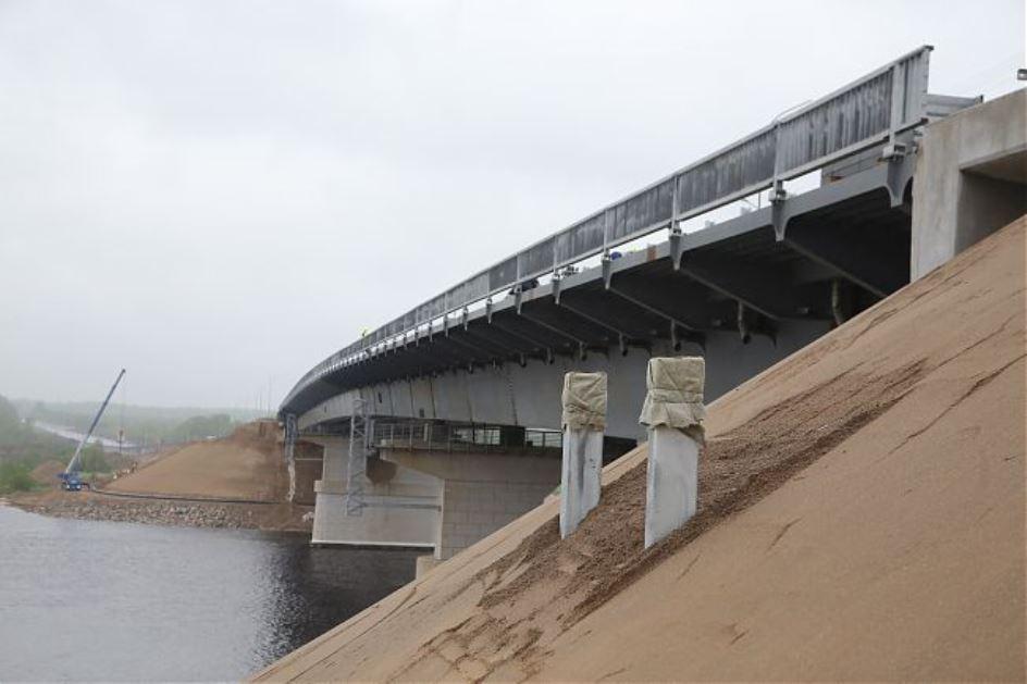 На трассе между Вологдой и Череповцом открыли новый мост через Шексну