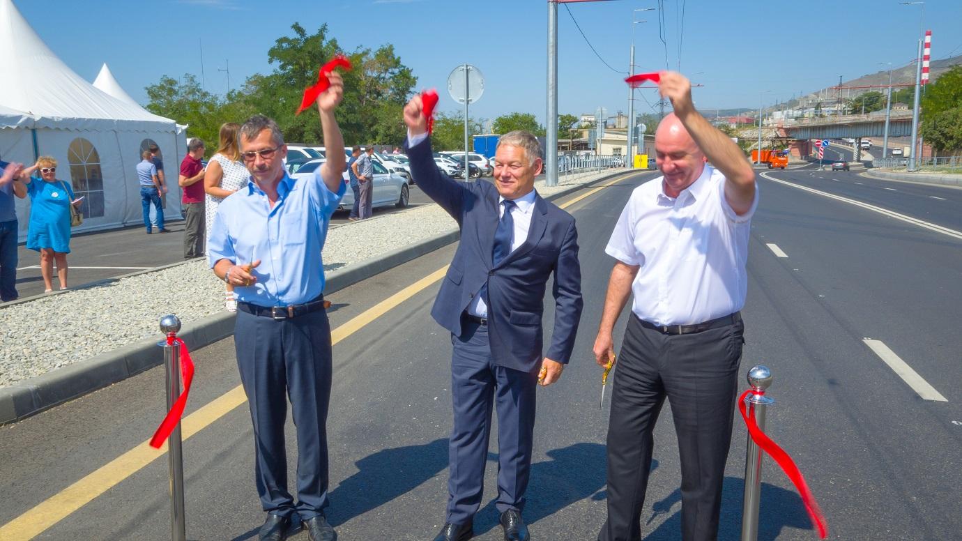 На Сухумском шоссе в Краснодарском крае открыли новую транспортную развязку