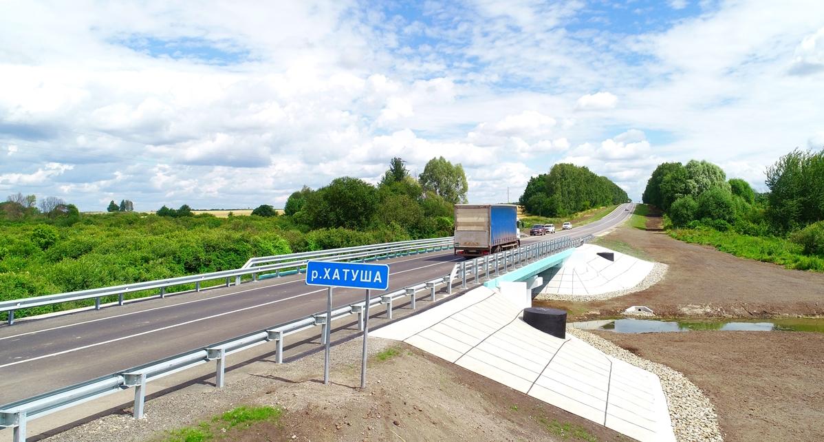 На трассе А-142 в Курской области отремонтировали мост через Хатушу