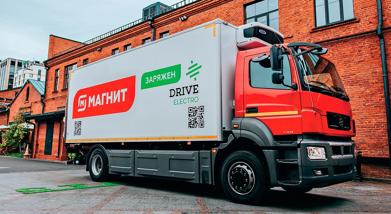 «Магнит» тестирует первый в России электрогрузовик Moskva