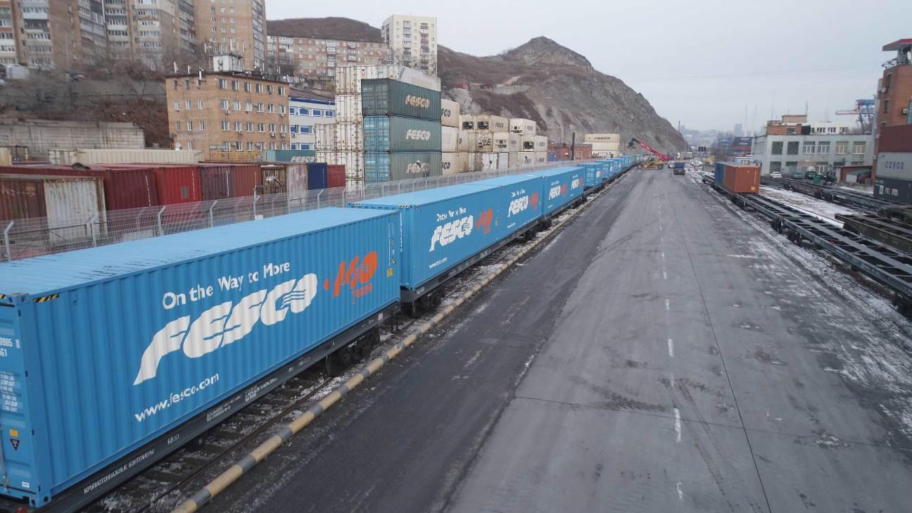 FESCO запускает регулярный контейнерный поезд c ТЛЦ «Белый Раст» в Читу