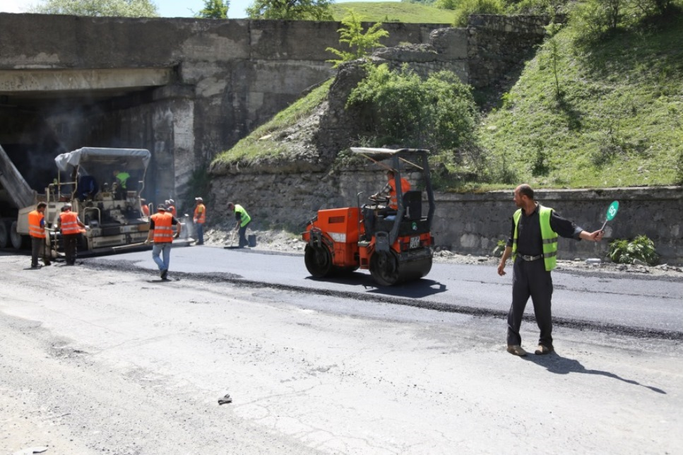 Ремонт дороги «Мцхета-Степанцминда-Ларс»
