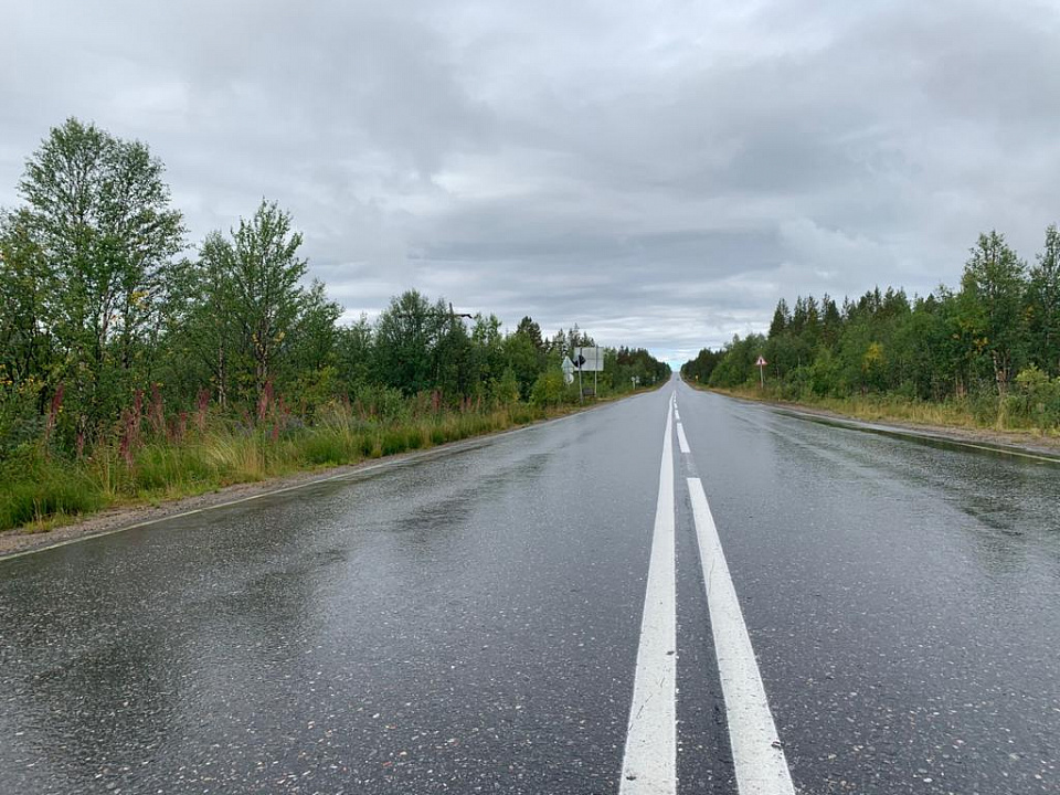 Под Мурманском отремонтировали участок трассы «Оленегорск-Ловозеро»