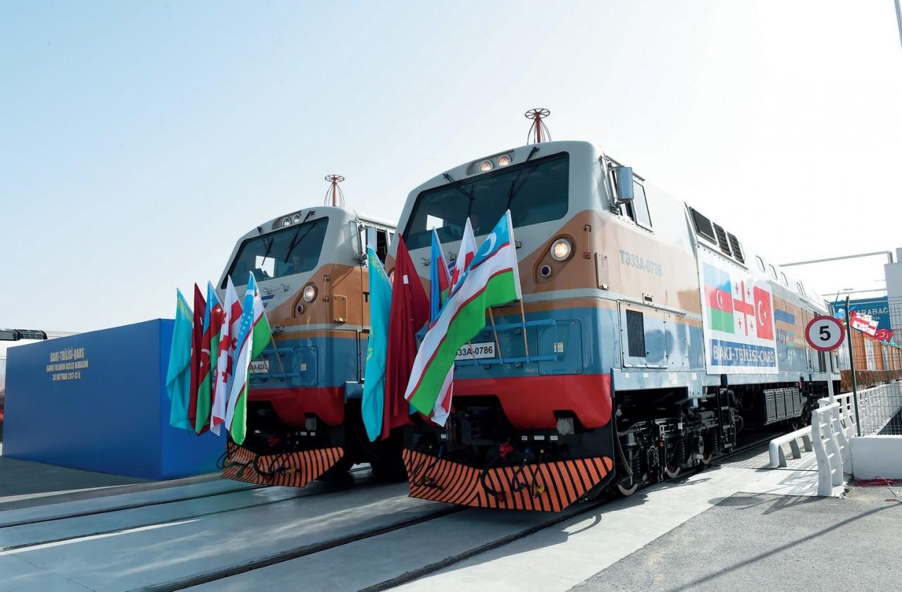 По ж/д «Баку-Тбилиси-Карс» выехал первый грузовой поезд из Турции в Россию