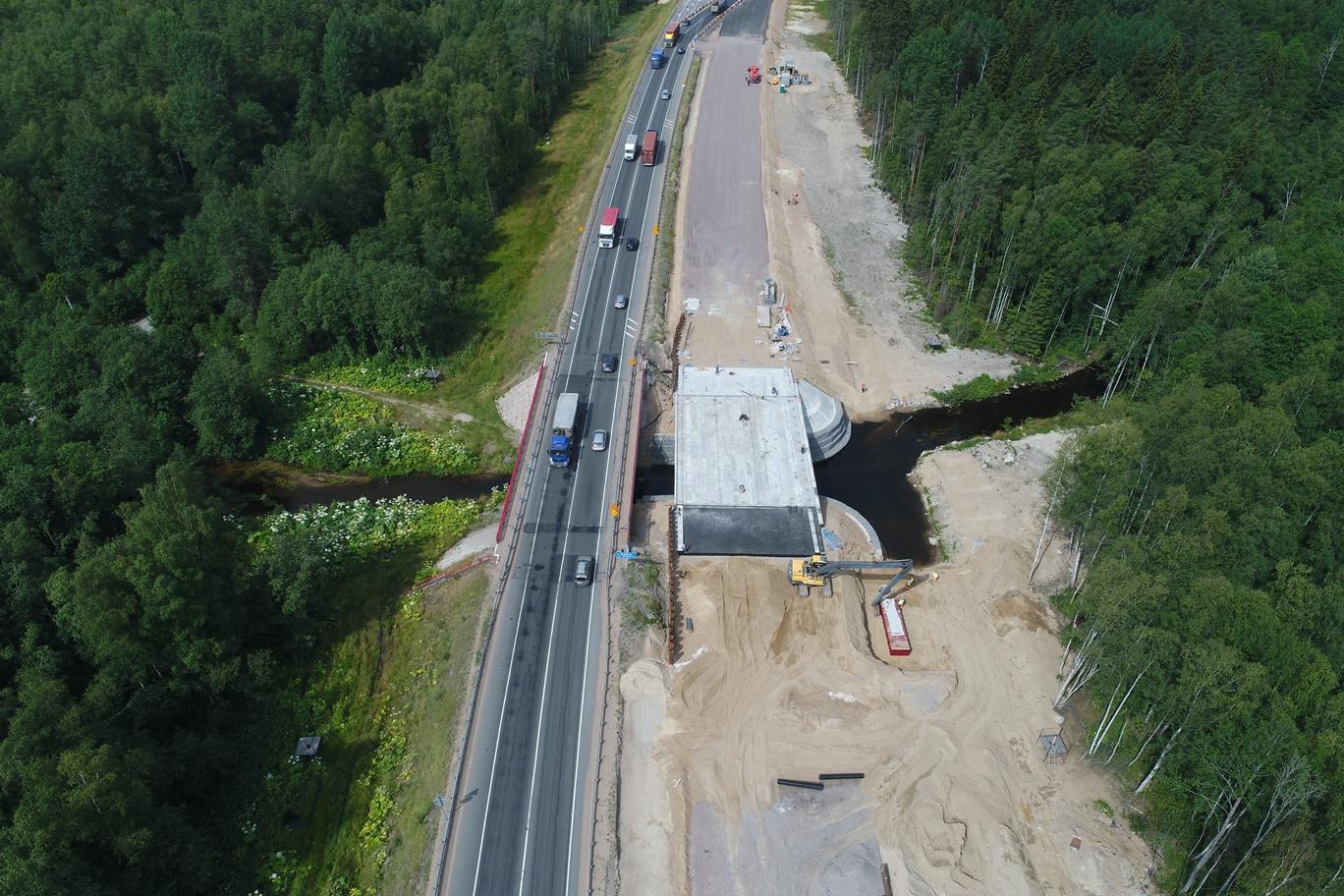 В августе на трассе «Скандинавия» откроют движение по новому мосту