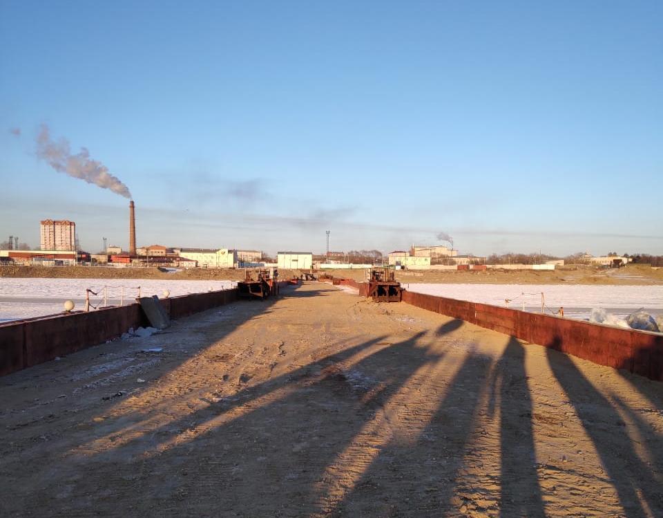 С 15 марта откроется понтонный мост через Амур на границе с КНР