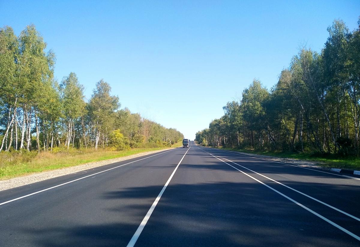 Федеральная трасса М-5 «Урал» в Рязанской области