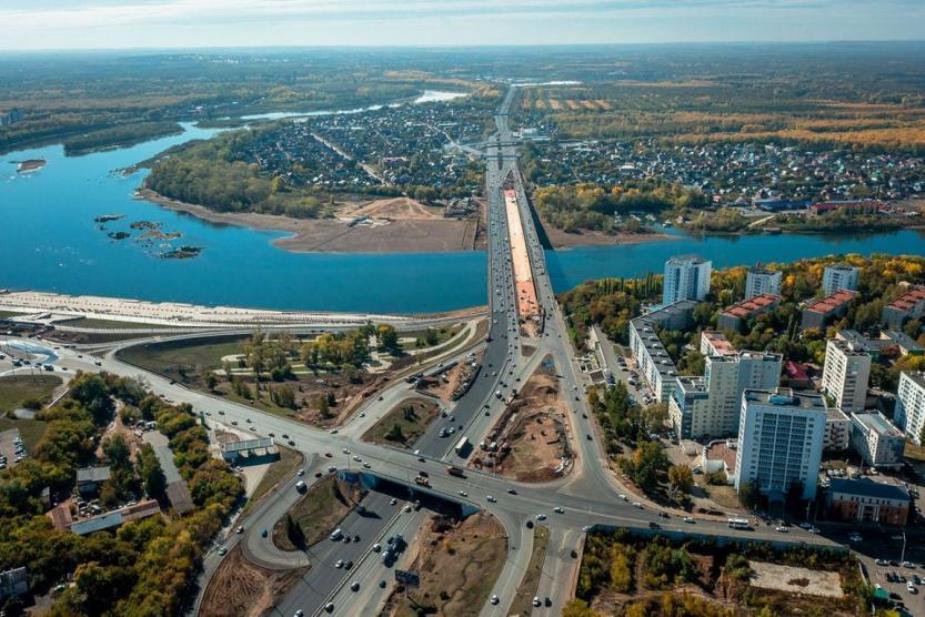 Новый мост через реку Белая в Уфе откроют в конце октября