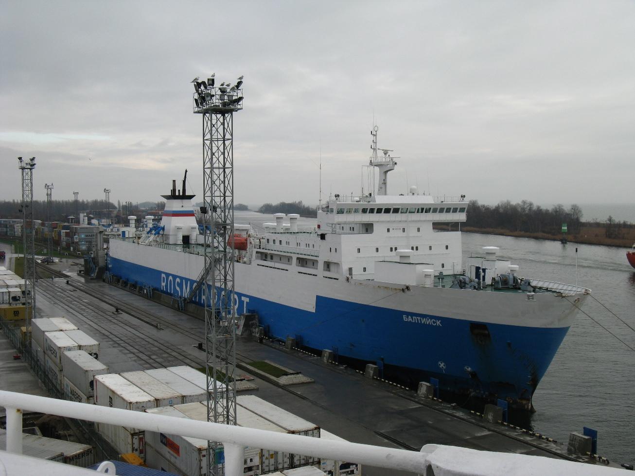Паром «Балтийск» выйдет на линию «Балтийск – Усть-Луга» с 19 августа