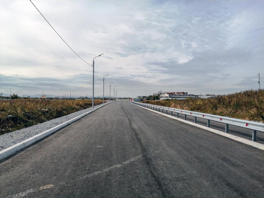 В Хабаровске построили дорогу к индустриальному парку «Авангард»