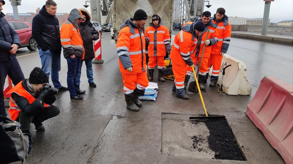 В Санкт-Петербурге начали тестировать японские технологии для ремонта дорог