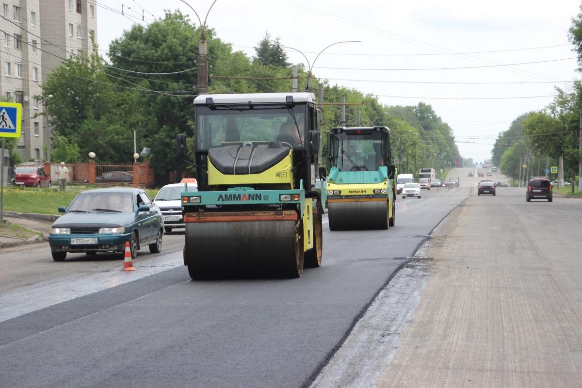 Во Владимирской области досрочно завершили ремонт дорог по нацпроекту