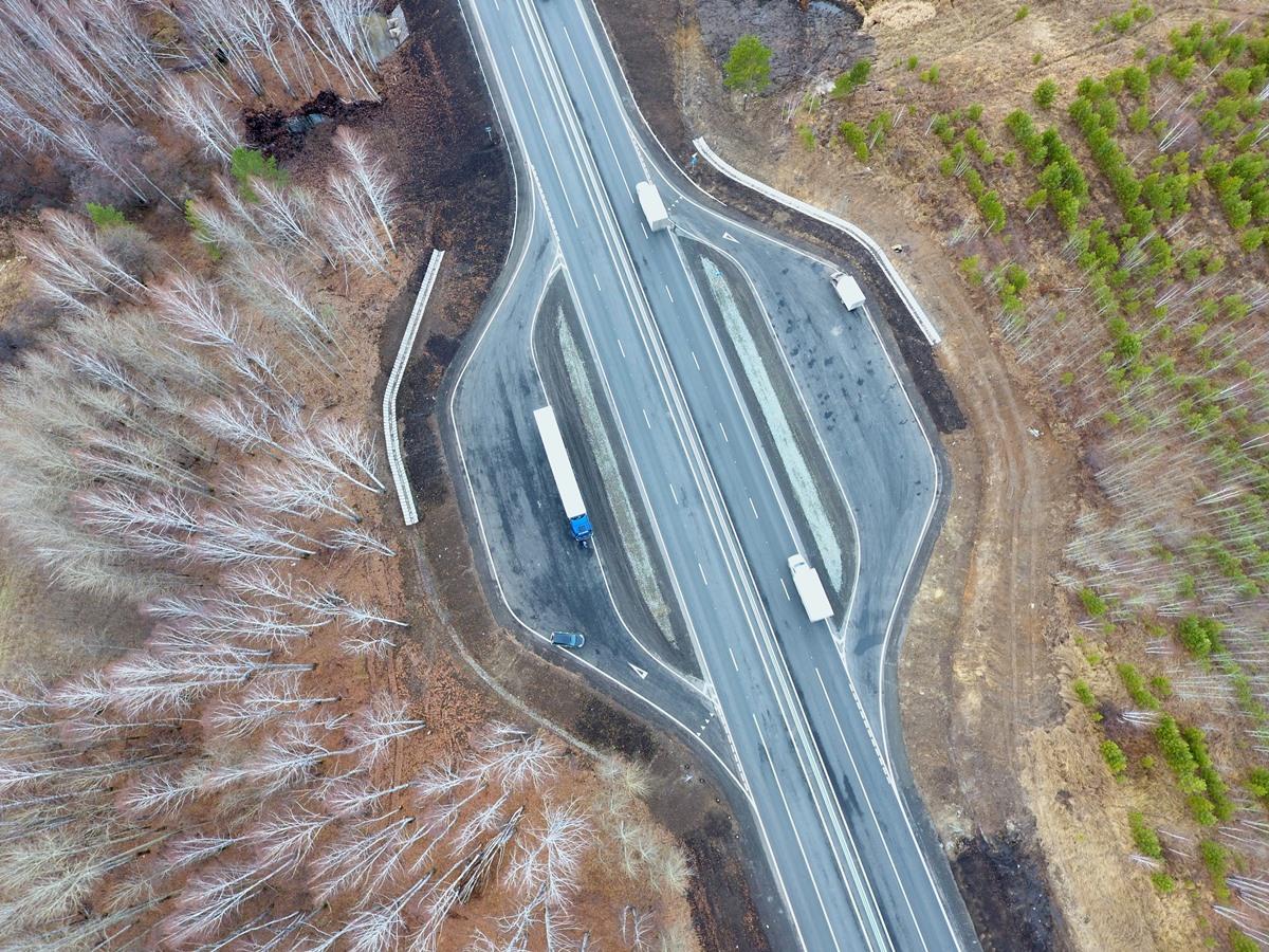 В Свердловской области расширили трассу Р-351