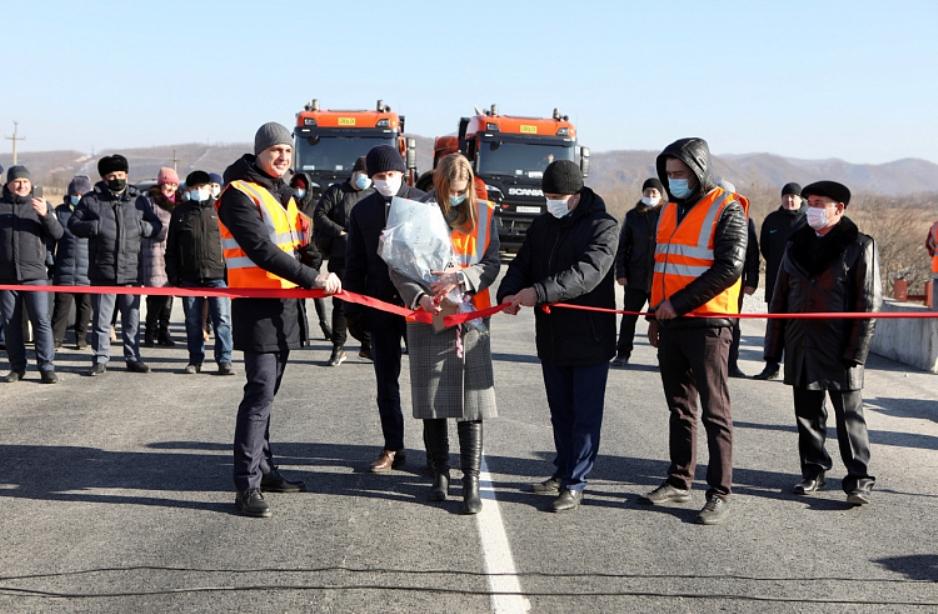 В городе Большой Камень Приморского края завершили реконструкцию моста