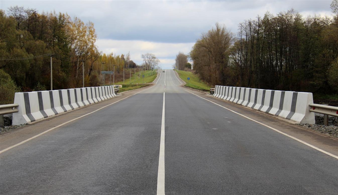 В Курской области на трассе А-142 отремонтировали мост через Харасею