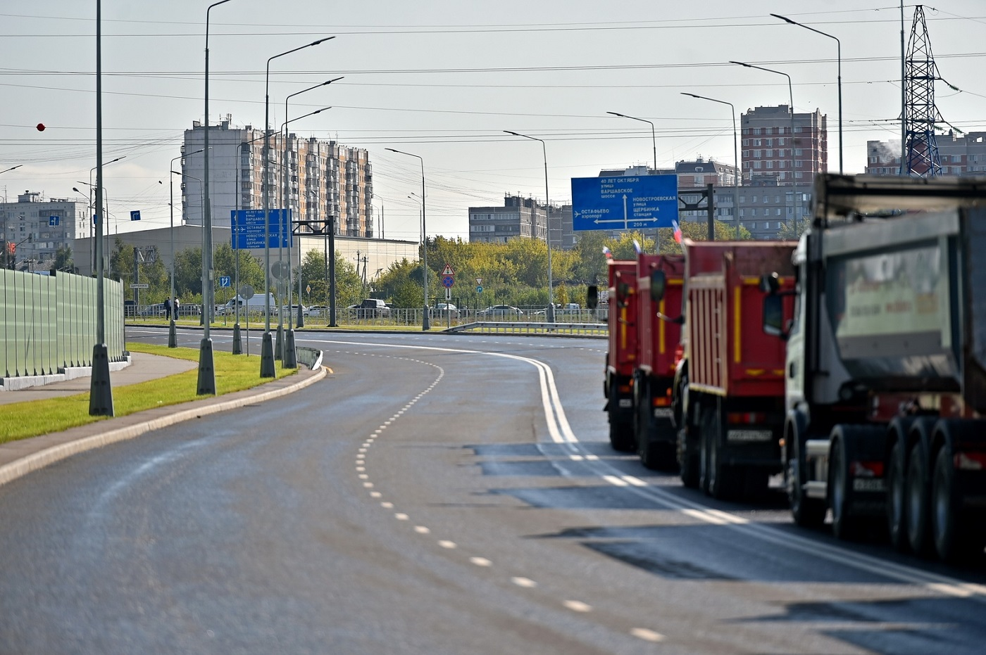 Движение для автомобилей открыли по дублеру Остафьевского шоссе в Новой Москве