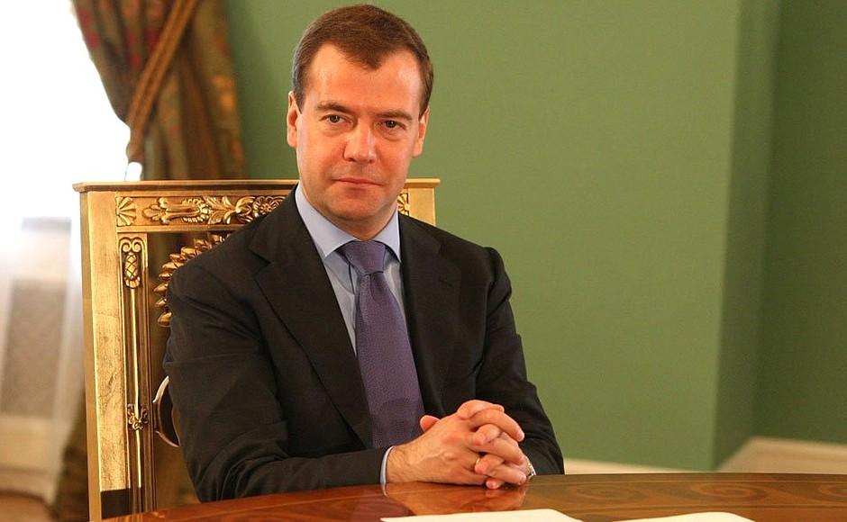 Премьер-министр России Дмитрий Медведев фото