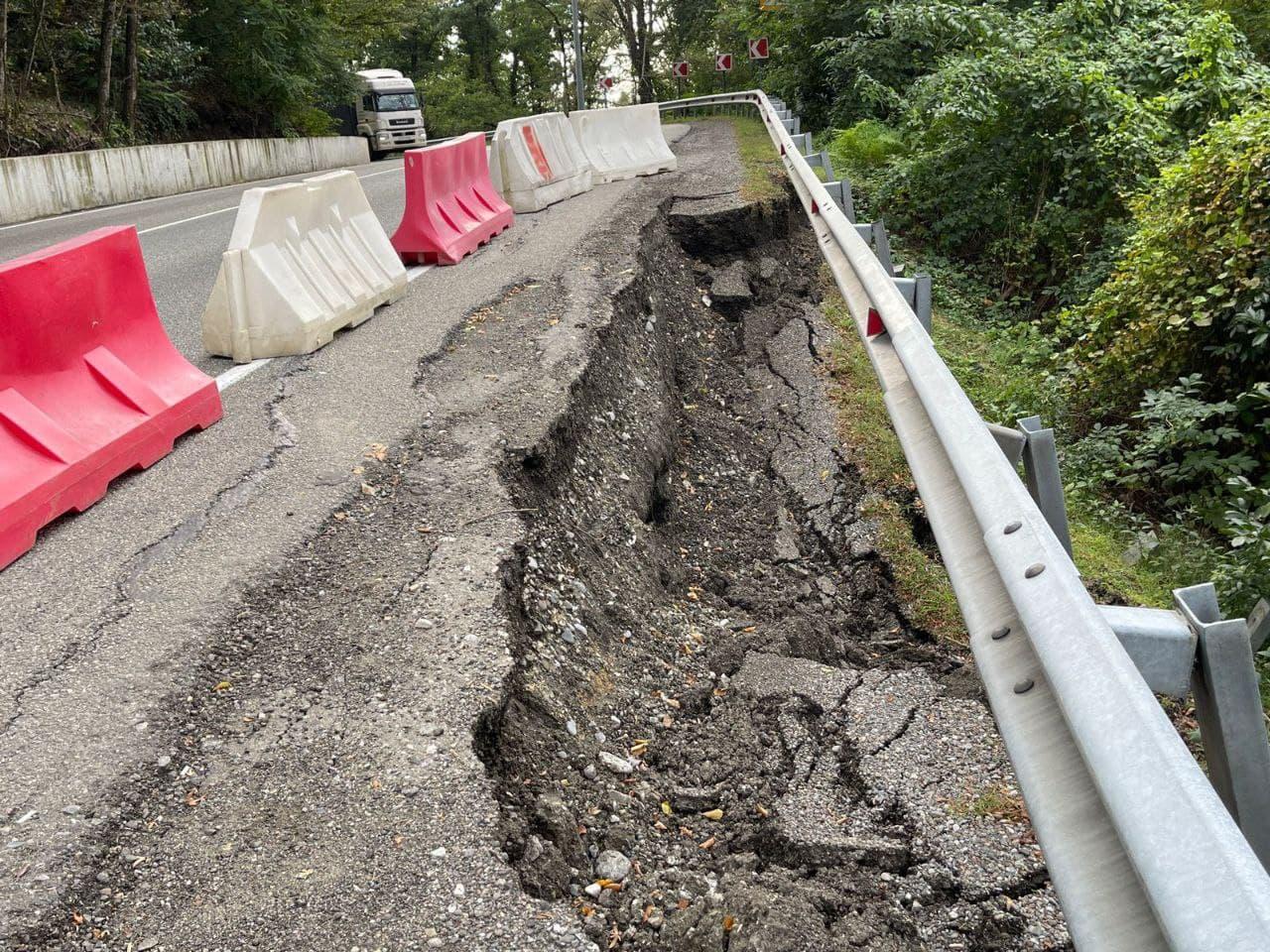 В Сочи утвердили план восстановления аварийных участков трассы А-147