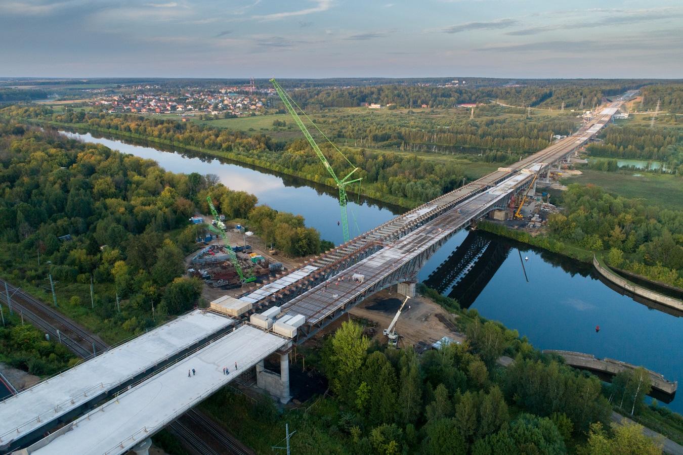 Технологический проезд по мосту над каналом им. Москвы на ЦКАД-3 откроют 30 ноября