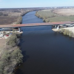 Технологический проезд по мосту через реку Москва на ЦКАД-4 откроют к сентябрю