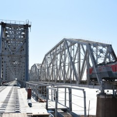В Амурской области открыли новый железнодорожный мост через Зею