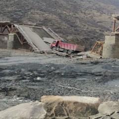 В Дагестане обрушился мост через реку Аварское койсу