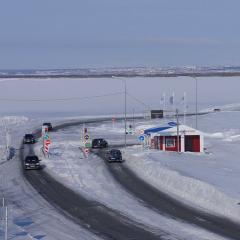На ледовой переправе «Салехард-Лабытнанги» открыли третью полосу