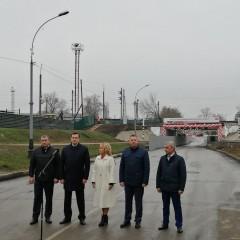 В Тамбове после ремонта открыли железнодорожный мост и дорогу под ним