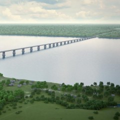 Начались подготовительные работы по строительству моста через Волгу в Самарской области