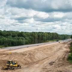 Большая часть участка трассы М-11 за обходом Клина и Солнечногорска уже заасфальтирована