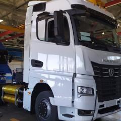 На «КамАЗе» представили первый газодизельный тягач нового поколения