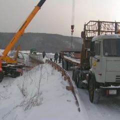 В Иркутской области восстановили движение по разрушенному мосту