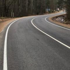 В Псковской области дорогу впервые отремонтировали по новому ГОСТу