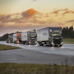Scania готовится к тестированию технологии Platooning в России