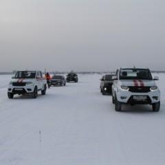 Первую ледовую переправу открыли в Новосибирской области